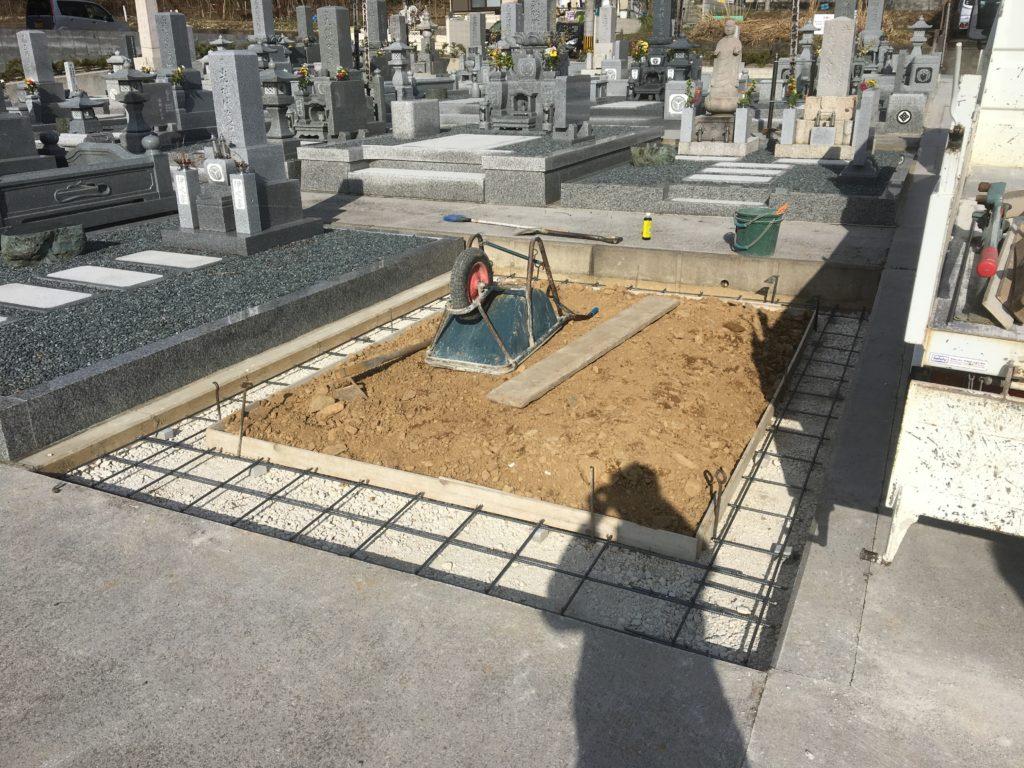 墓石の土台の強化