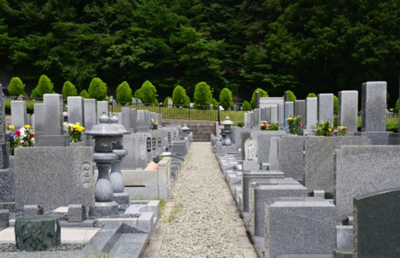 墓石を立てる場所の確認